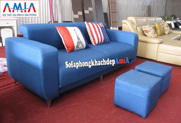 Hình ảnh Sofa văng nhỏ kê phòng khách nhỏ đẹp hiện đại tại AmiA