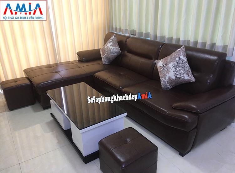 Hình ảnh bàn ghế sofa phòng khách đẹp cho nhà chung cư AmiA 141