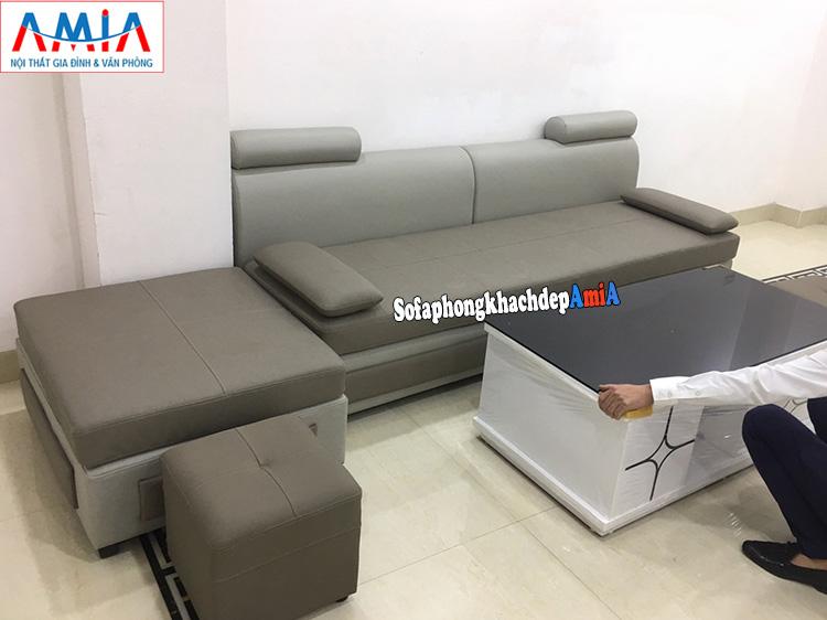 Hình ảnh Bàn ghế sofa phòng khách nhỏ xinh cho phòng làm việc giám đốc