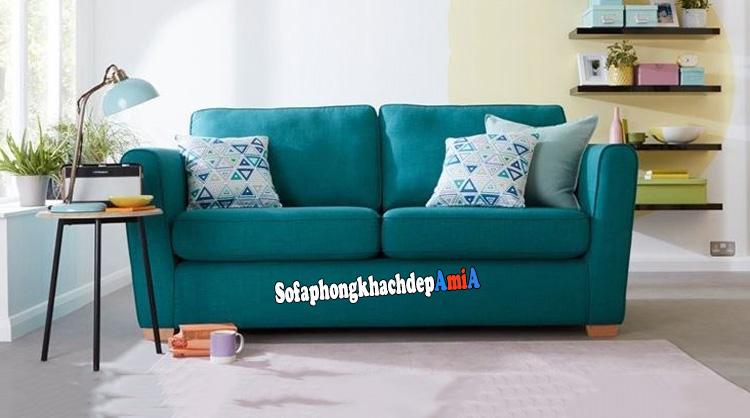Hình ảnh Ghế sofa 2 chỗ kê phòng khách nhỏ hẹp với chất liệu nỉ hiện đại