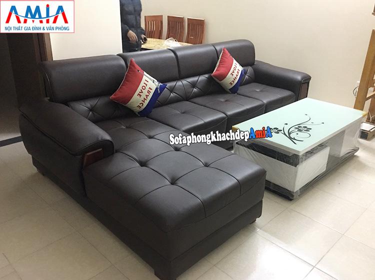 Hình ảnh ghế sofa da phòng khách đẹp AmiA 193 hiện đại và sang trọng