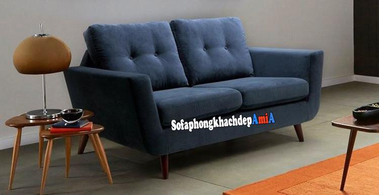 Hình ảnh Ghế sofa nỉ văng cho phòng khách nhỏ hẹp hiện đại