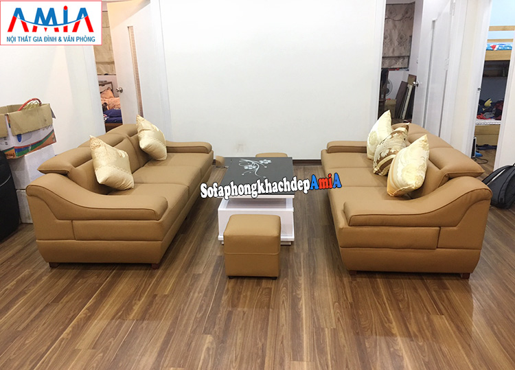 Hình ảnh ghế sofa văng đẹp cho phòng khách lớn AmiA 100