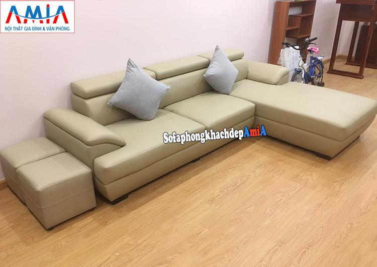 Hình ảnh Mẫu sofa phòng khách đẹp góc chữ L AmiA 093 bài trí sát tường