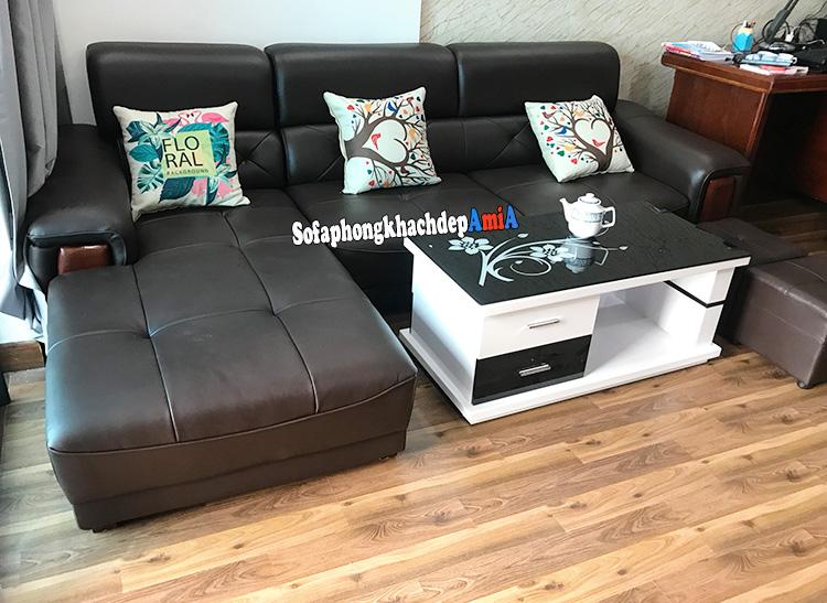 Hình ảnh Sofa da phòng khách đẹp AmiA 193 kê phòng làm việc hiện đại