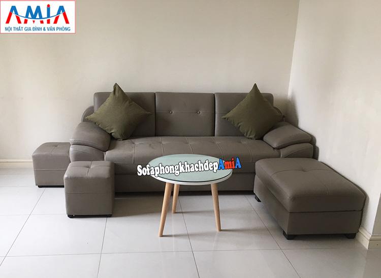Hình ảnh Sofa văng cho phòng khách đẹp AmiA 099 kích thước nhỏ gọn