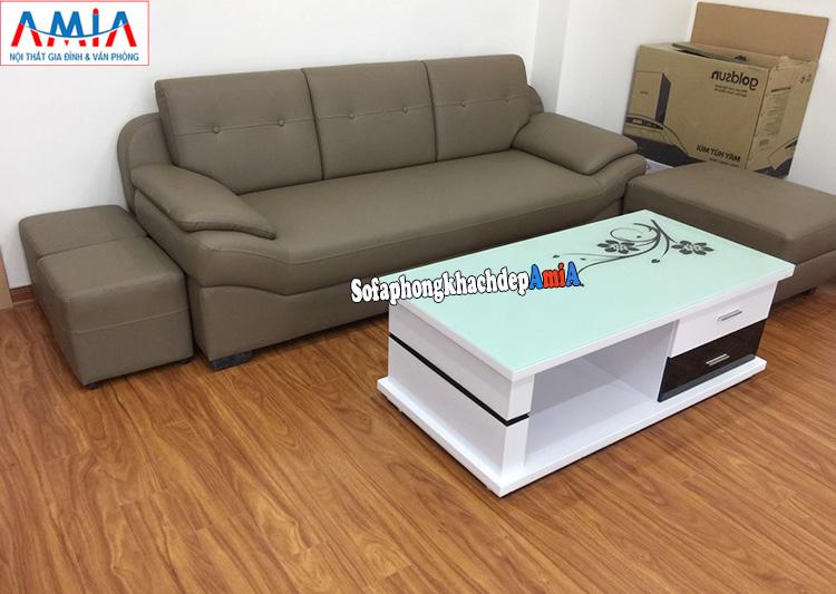 Hình ảnh Sofa văng phòng khách đẹp AmiA 099 kích thước nhỏ xinh xắn