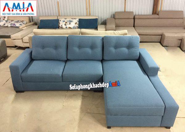 Hình ảnh ghế sofa nỉ phòng khách đẹp hiện đại thiết kế hình chữ L đơn giản mà đẹp