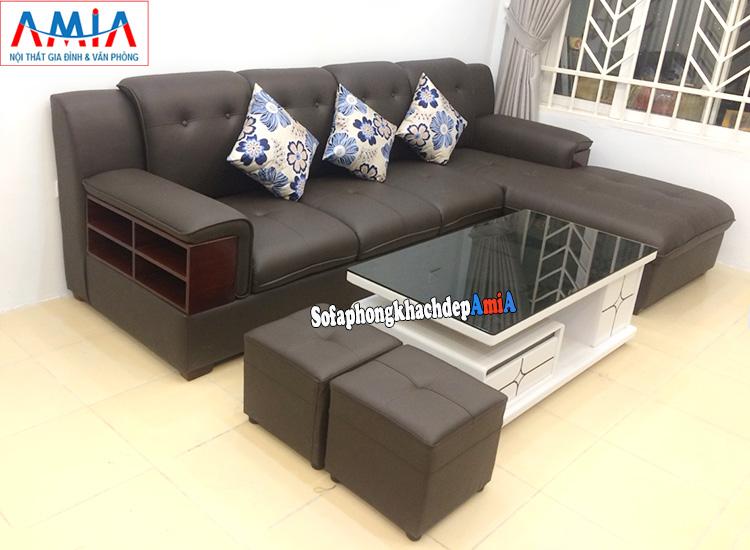Hình ảnh Bàn ghế sofa phòng khách đẹp Hà Nội kết hợp cùng bàn trà sofa đẹp