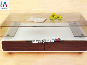 Hình ảnh mẫu bàn kính sofa giá rẻ Hà Nội thiết kế hiện đại và sang trọng
