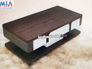 Hình ảnh Mẫu bàn sofa đẹp giá rẻ Hà Nội phối kết hợp 2 màu trắng đen