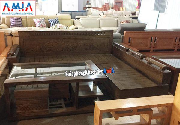 Hình ảnh Ghế sofa chữ L gỗ đẹp hiện đại cho phòng khách gia đình, công ty,...