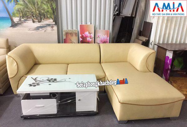 Hình ảnh Ghế sofa da cho phòng khách đẹp hiện đại thiết kế hình chữ L tiện lợi