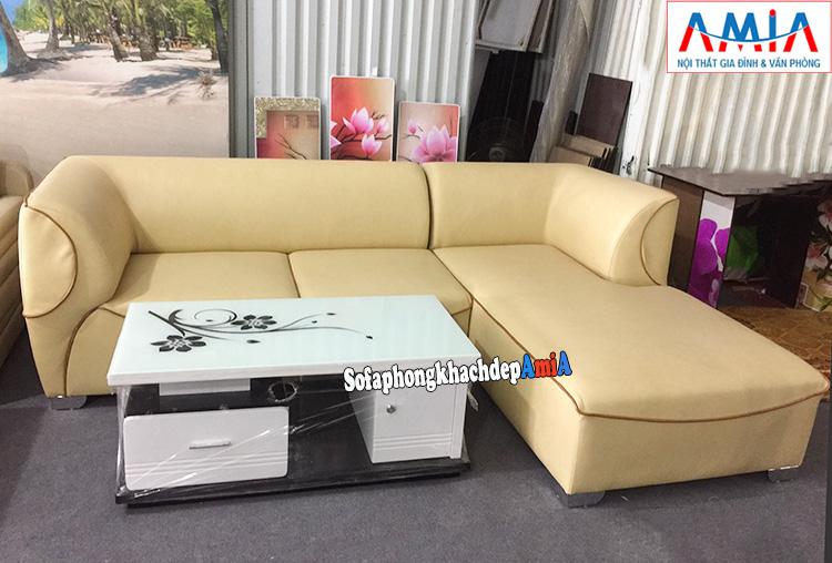 Hình ảnh Mẫu ghế sofa da đẹp cho phòng khách gia đình hiện đại