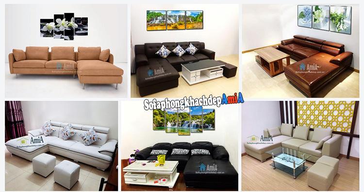 Hình ảnh Mẫu ghế sofa đẹp cho phòng khách hiện đại thiết kế hình chữ L độc đáo