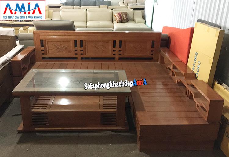 Hình ảnh Ghế sofa gỗ Sồi giá rẻ cho phòng khách hiện đại gia đình