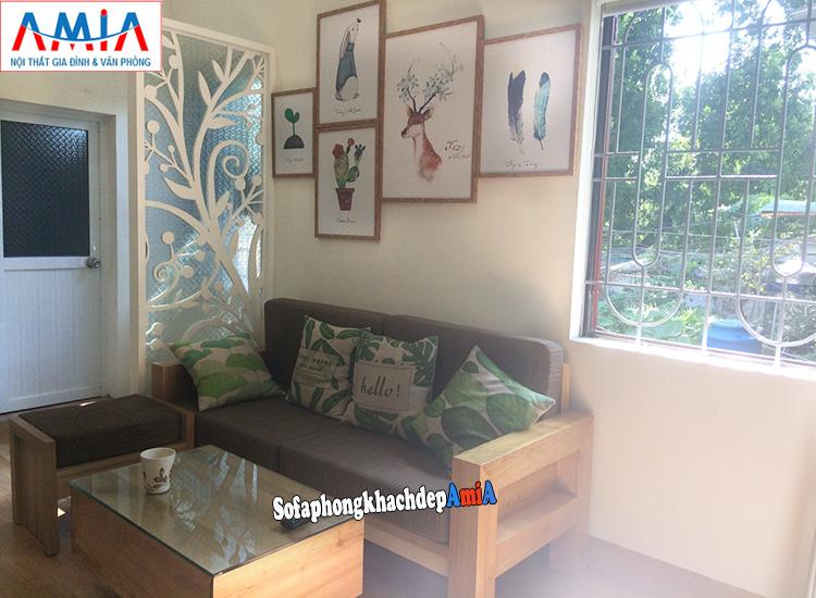 Hình ảnh Mẫu ghế sofa văng gỗ hiện đại cho phòng khách đẹp gia đình
