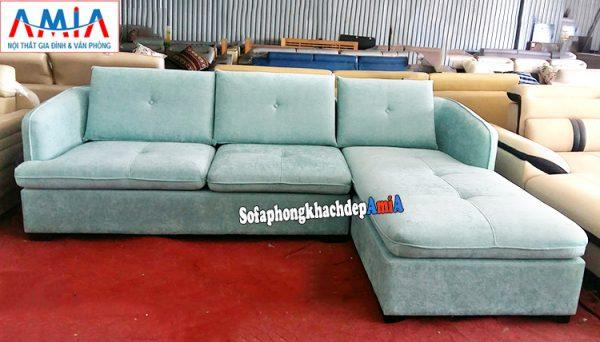 Hình ảnh Mẫu sofa nỉ đẹp cho phòng khách thiết kế hình chữ L đẹp hiện đại