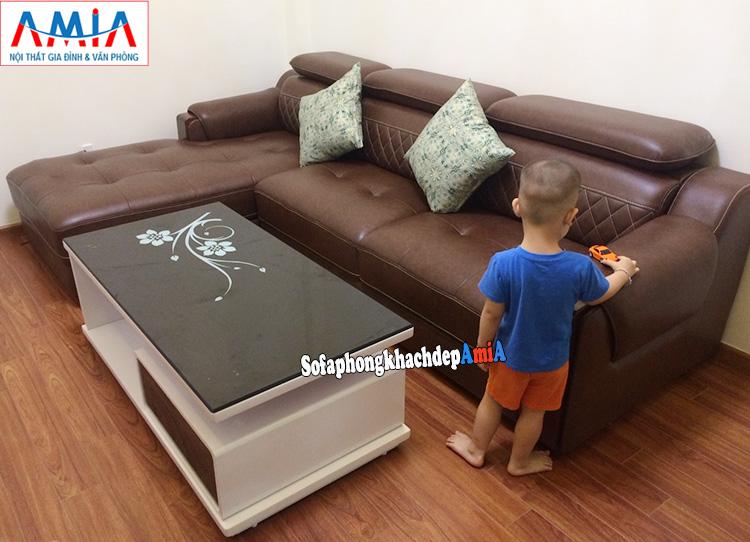 Hình ảnh sofa cho phòng khách nhà có trẻ con dễ dàng, nhanh chóng và phù hợp