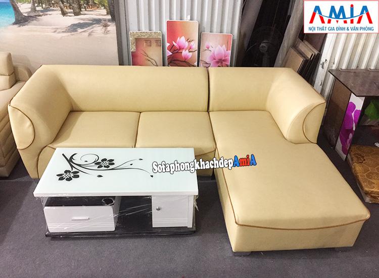 Hình ảnh Mẫu sofa da đẹp cho phòng khách hiện đại, sang trọng