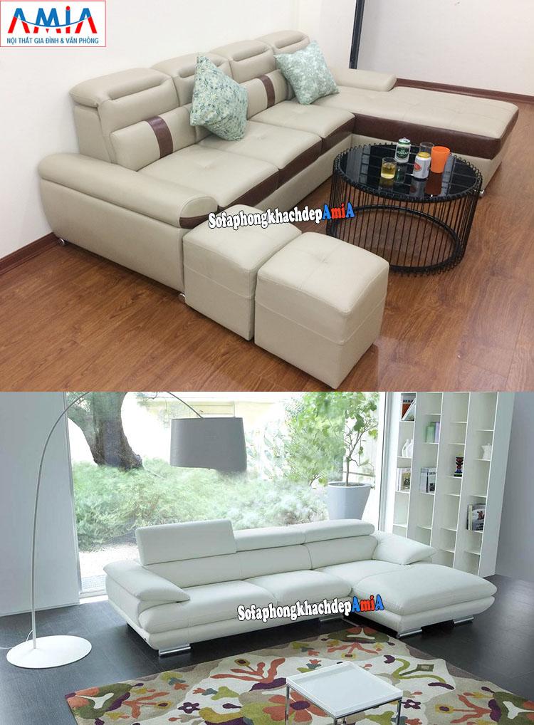 Hình ảnh Ghế sofa da phòng khách đẹp hiện đại giá rẻ cho phòng khách nhà phố, nhà chung cư, biệt thự