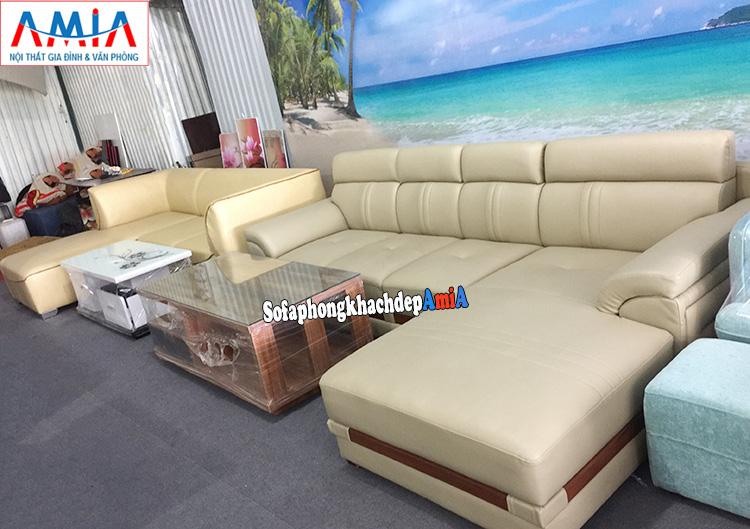 Hình ảnh Các mẫu sofa da phòng khách đẹp hiện đại cho nhà phố, nhà chung cư đều phù hợp