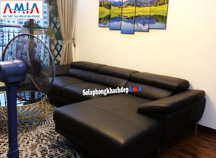 Hình ảnh sofa đẹp cho nhà chung cư thiết kế hình chữ L hiện đại, tiện lợi