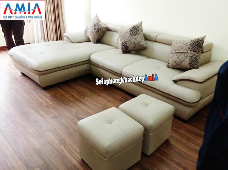 Hình ảnh Mẫu sofa đẹp cho phòng khách hiện đại giá rẻ nhà chung cư nhỏ mini