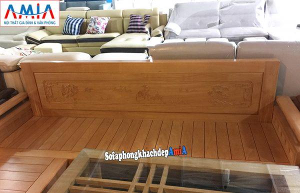 Hình ảnh Sofa gỗ cho phòng khách hiện đại thiết kế hình chữ L độc đáo