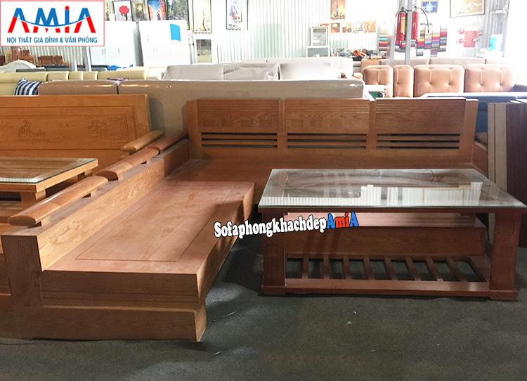 Hình ảnh sofa gỗ cho phòng khách nhỏ hiện đại dễ dàng bài trí, sắp xếp