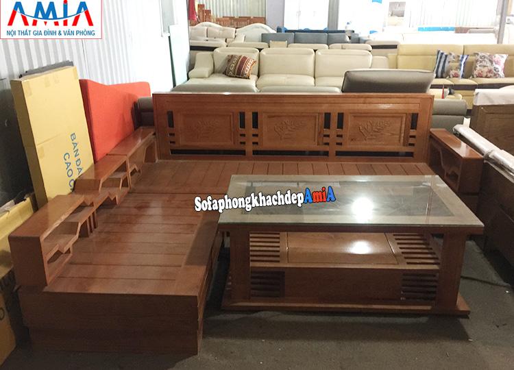 Hình ảnh Sofa gỗ Sồi giá rẻ phòng khách hiện đại đẹp hoàn hảo