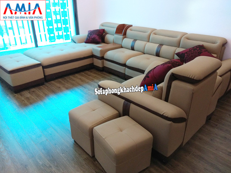 Hình ảnh Sofa góc chữ L cho phòng khách chung cư kích thước lớn