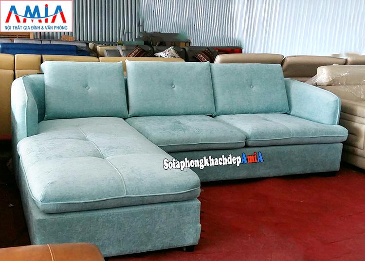 Hình ảnh Sofa nỉ cho phòng khách hiện đại thiết kế hình chữ L 3 chỗ