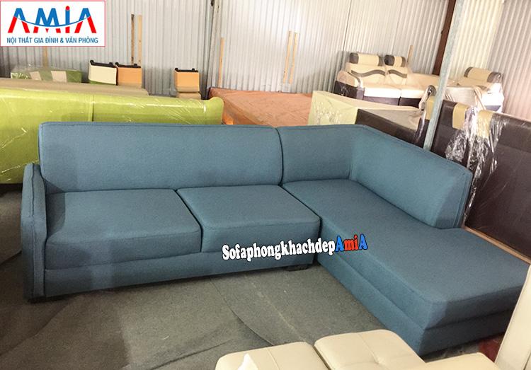 Hình ảnh Ghế sofa nỉ đẹp cho phòng khách hiện đại thiết kế hình chữ L đơn giản