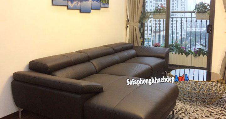 Hình ảnh Mẫu sofa phòng khách chung cư đẹp hình chữ L hiện đại
