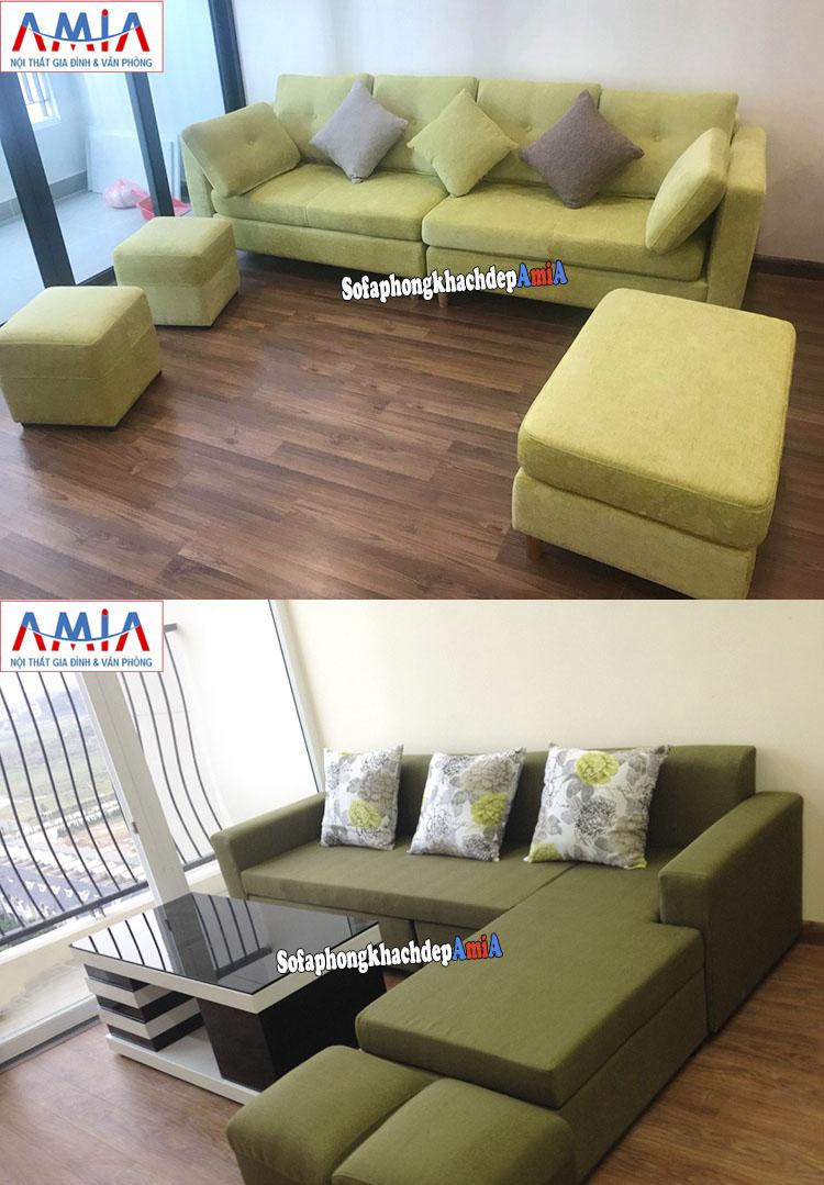 Hình ảnh Sofa phòng khách đẹp cho nhà chung cư, chung cư nhỏ mini
