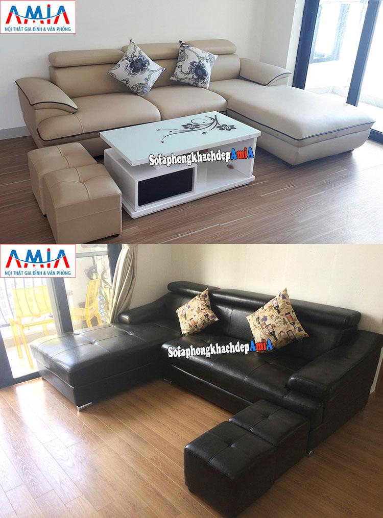 Hình ảnh Mẫu sofa phòng khách đẹp chung cư hiện đại bài trí khu vực gần ban công