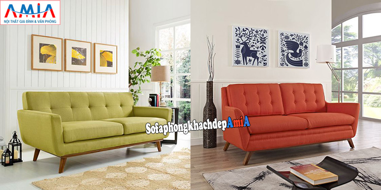 Hình ảnh Ghế sofa phòng khách nhỏ gọn thiết kế dạng ghế văng rút khuy hiện đại giá rẻ tại Hà Nội