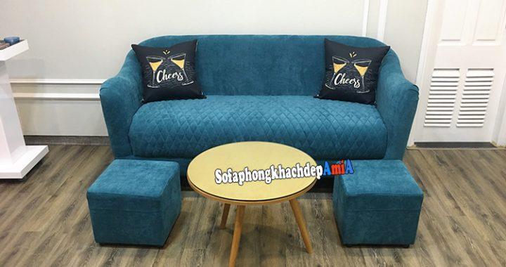 Hình ảnh Ghế sofa theo phong thủy phòng khách bài trí sát tường