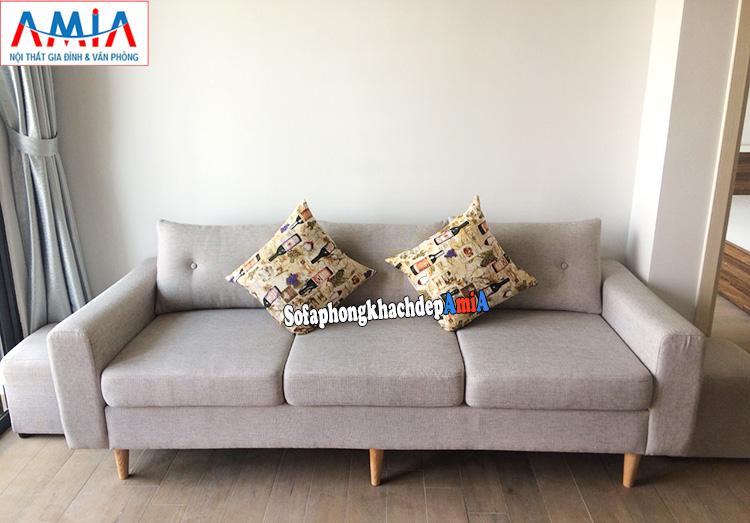 Hình ảnh Ghế sofa văng đẹp cho phòng khách nhà chung cư hiện đại thiết kế 3 chỗ nhỏ xinh