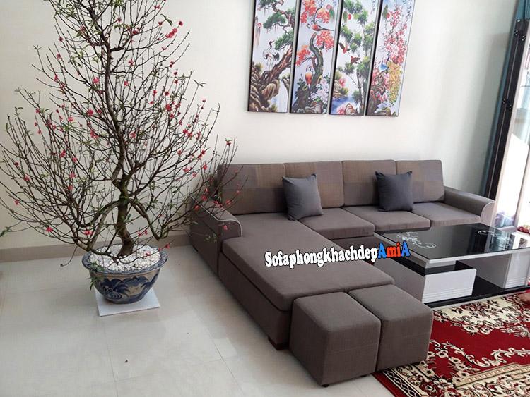 Hình ảnh Mẫu sofa phòng khách đẹp nhà ống thiết kế dạng sofa góc phòng khách đẹp