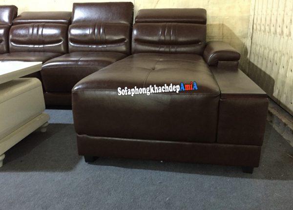 Hình ảnh Bộ ghế sofa da cao cấp kê phòng khách lớn nhà phố, nhà chung cư