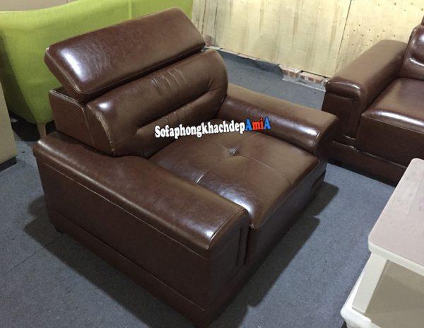 Hình ảnh Ghế sofa đơn da cao cấp đi kèm bộ ghế sofa da phòng khách lớn