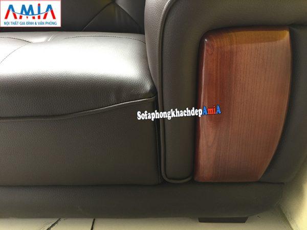 Hình ảnh chi tiết mẫu sofa da phòng khách lớn đẹp hiện đại