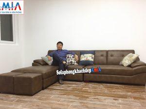 Hình ảnh Mẫu sofa văng dài cho phòng khách nhỏ hẹp nhà chung cư