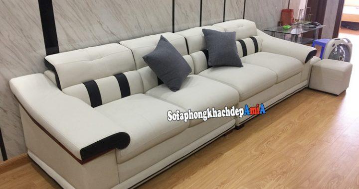 Hình ảnh sofa cho phòng khách nhà ống thiết kế dạng ghế sofa văng dài