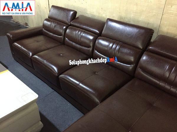 Hình ảnh Ghế sofa da cho phòng khách lớn đẹp hiện đại và sang trọng tại Nội thất AmiA