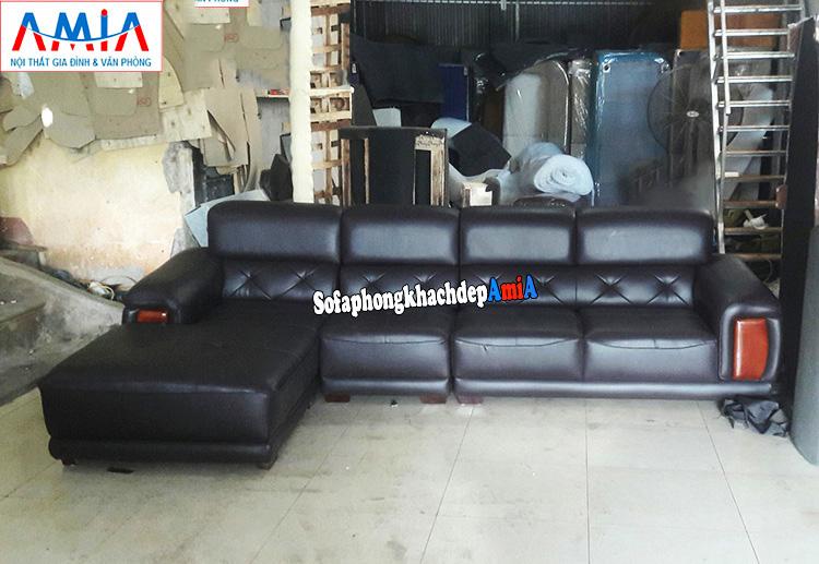 Hình ảnh Ghế sofa da cho phòng khách lớn giá rẻ làm theo yêu cầu tại Hà Nội