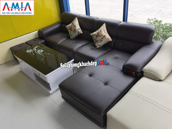 Hình ảnh Sofa da phòng khách lớn đẹp hiện đại giá rẻ tại Nội thất AmiA