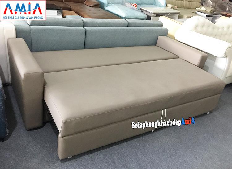 Hình ảnh Mẫu sofa giường giá rẻ Hà Nội thiết kế đa năng sofa kiêm giường nằm thông minh